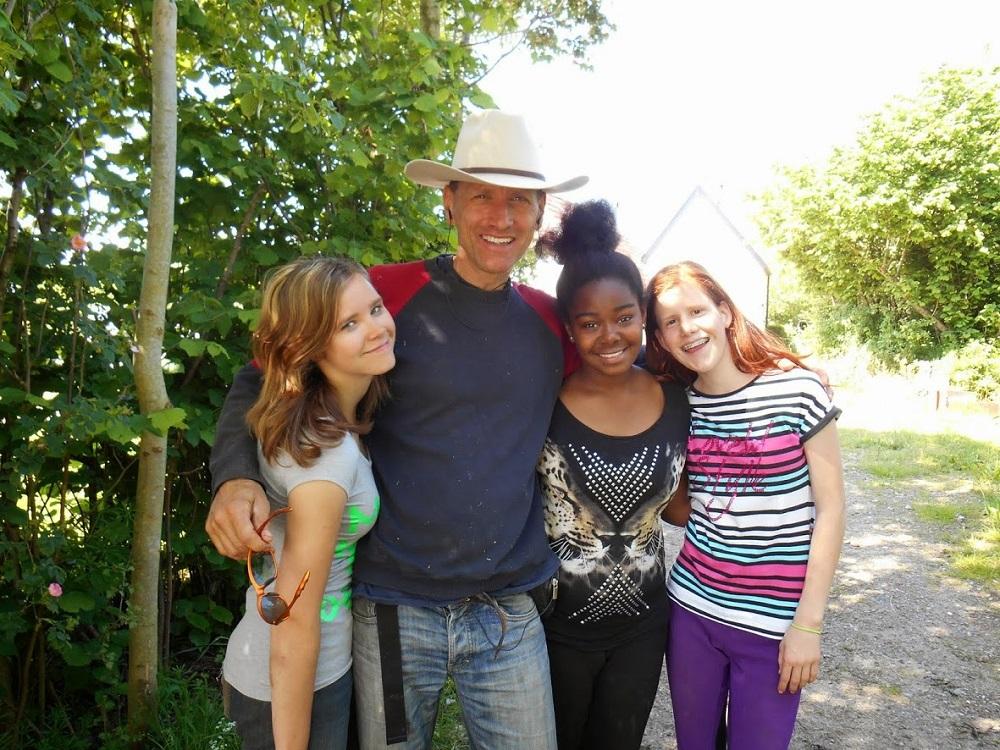Martin met kinderen