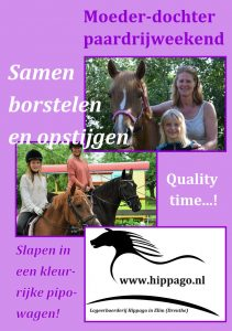 Moeder-dochter paardrijweekend
