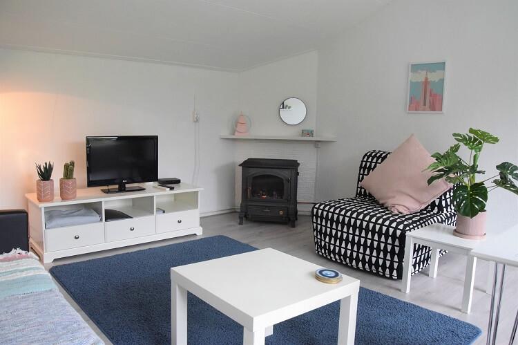 Vakantiehuisje in Drenthe woonkamer