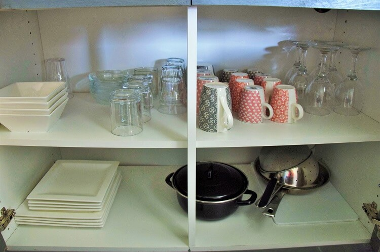 Vakantiehuisje in Drenthe met keukenkastje