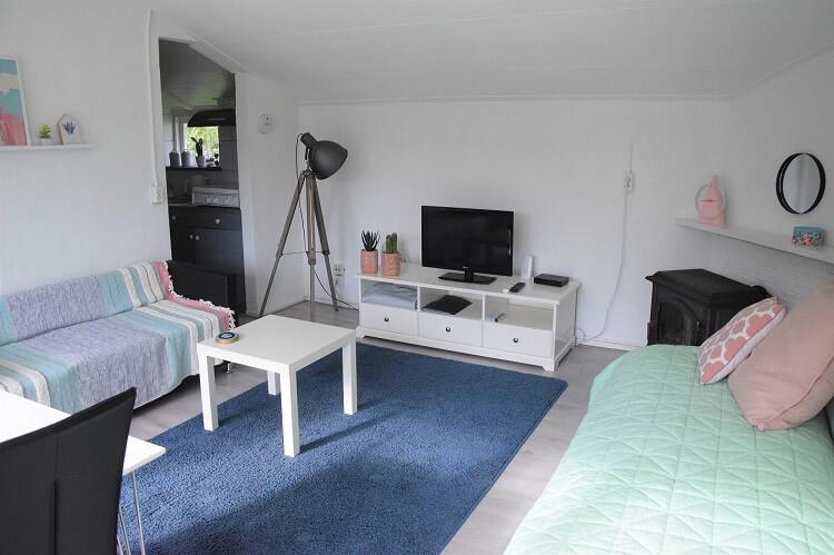 Vakantiehuisje in Drenthe kleed in de woonkamer